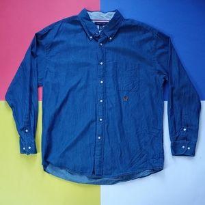 Modern Tommy Hilfiger Embroidered Denim Button-Up
